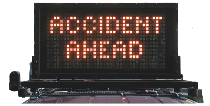 message board - accident ahead